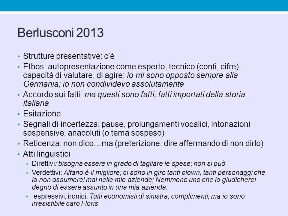 Berlusconi 2013 Strutture presentative: c'è