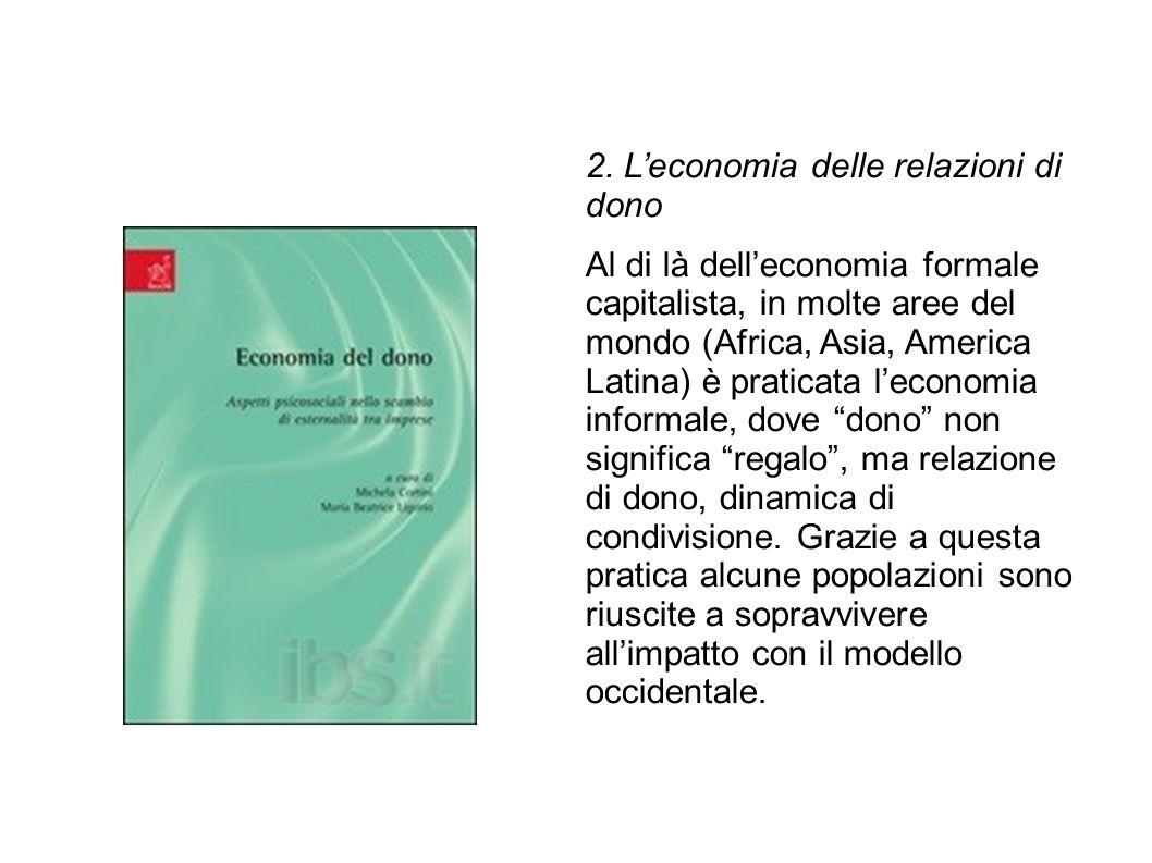 2. L'economia delle relazioni di dono