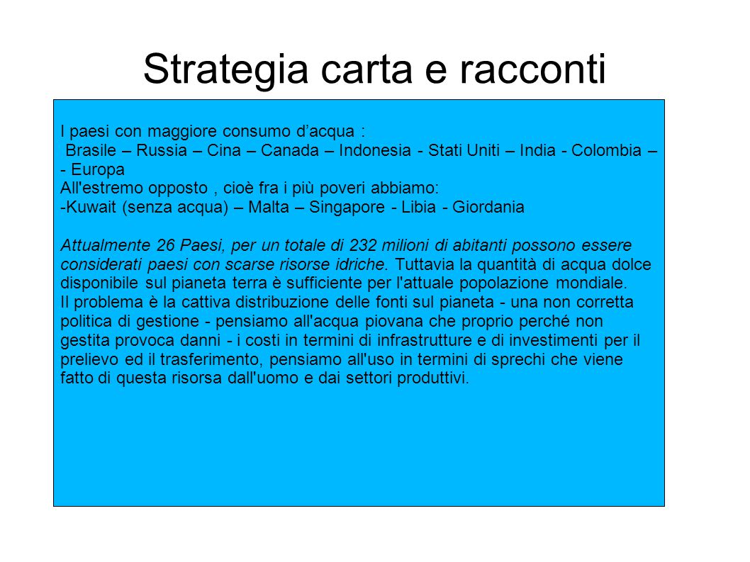 Strategia carta e racconti