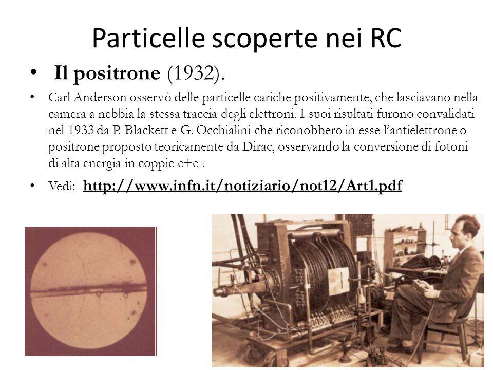 Particelle scoperte nei RC