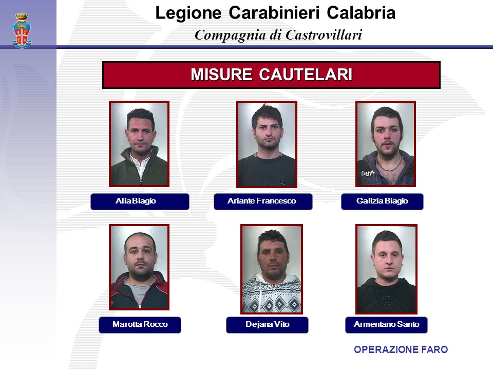 Legione Carabinieri Calabria Compagnia di Castrovillari