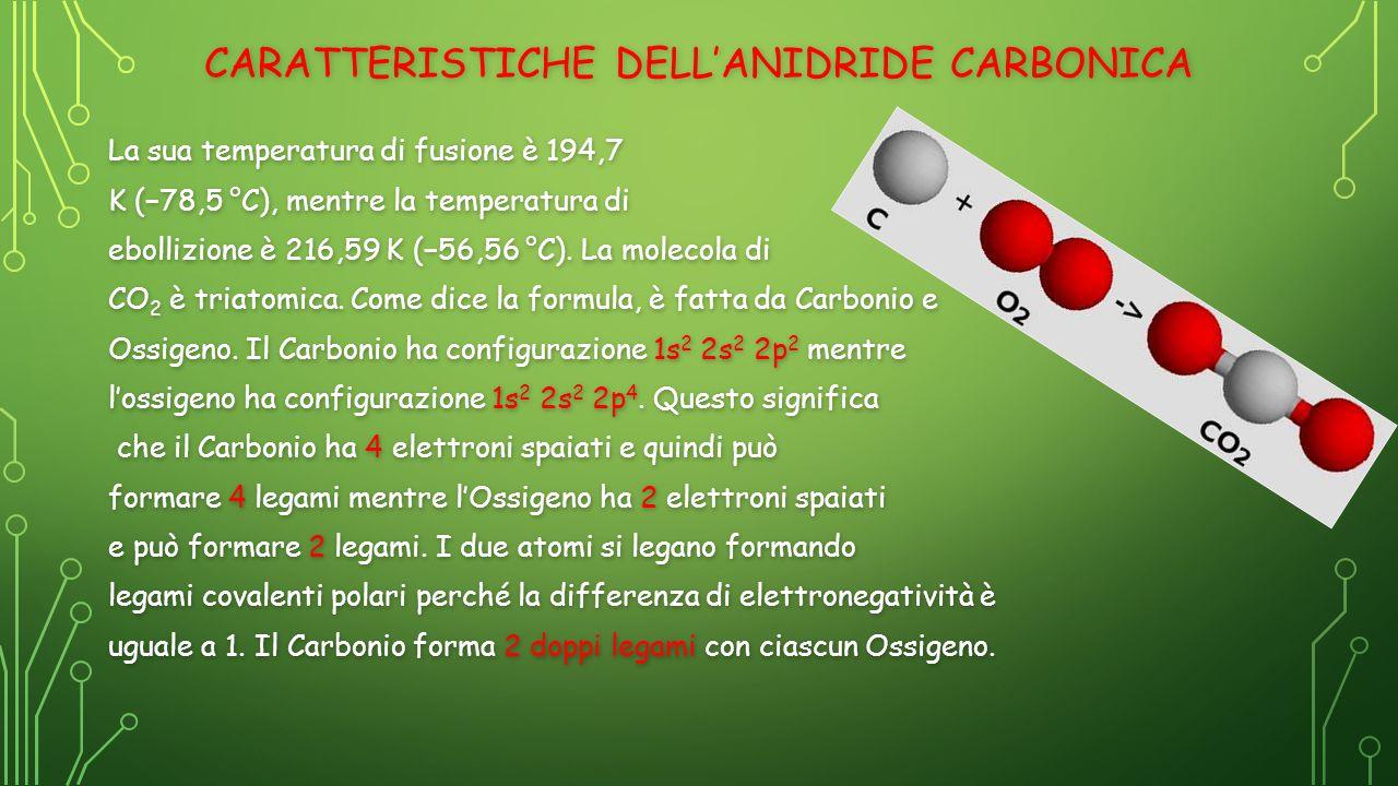 Caratteristiche dell'Anidride Carbonica
