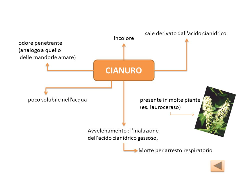 CIANURO sale derivato dall acido cianidrico incolore odore penetrante