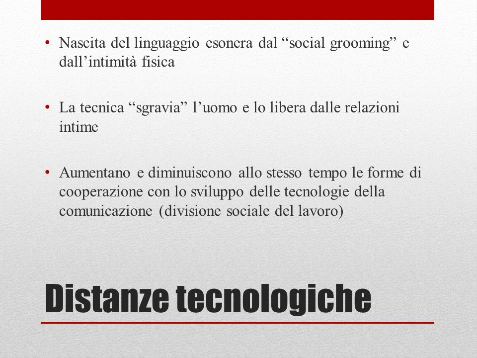 Distanze tecnologiche
