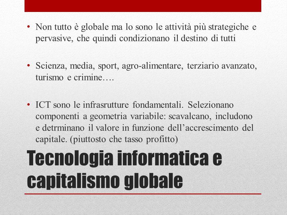 Tecnologia informatica e capitalismo globale