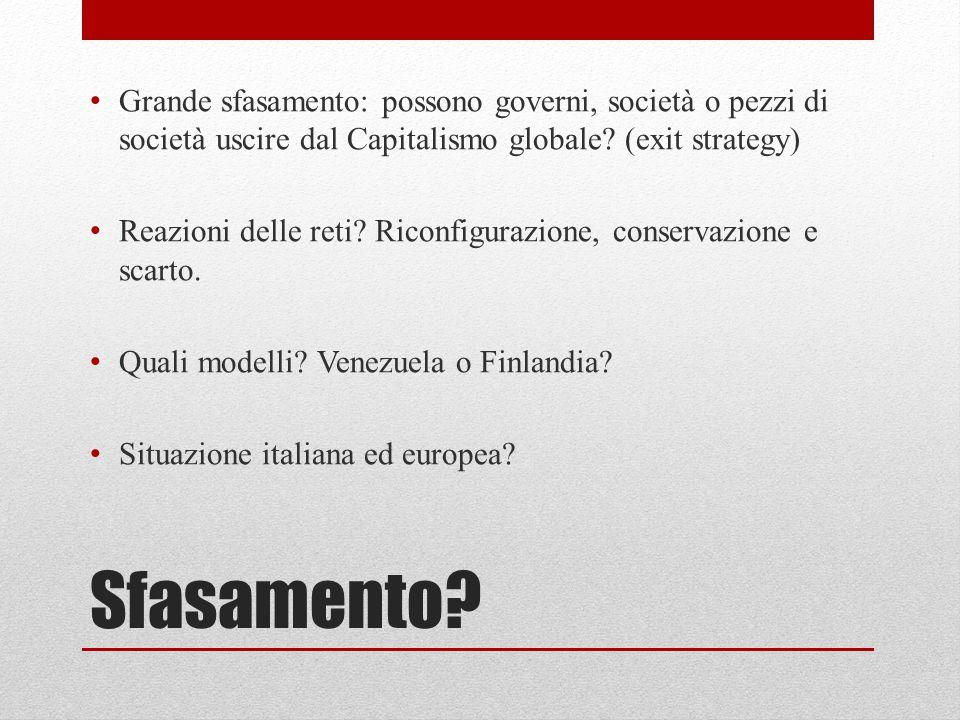 Grande sfasamento: possono governi, società o pezzi di società uscire dal Capitalismo globale (exit strategy)