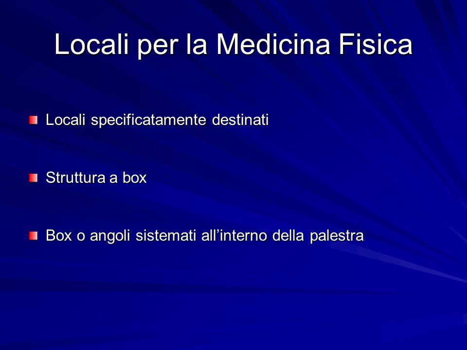 Locali per la Medicina Fisica