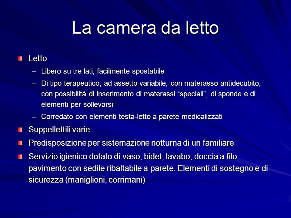 La camera da letto Letto Suppellettili varie