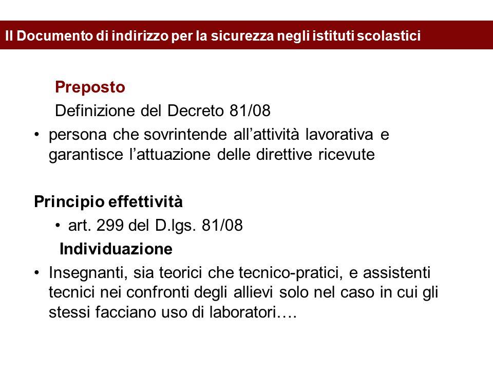 Definizione del Decreto 81/08