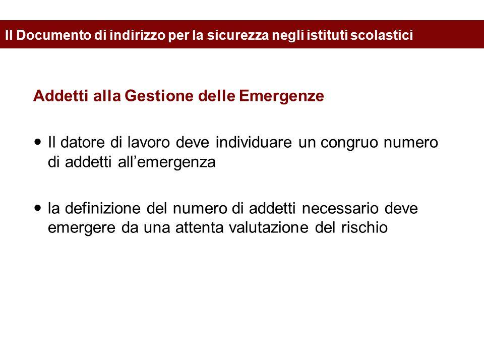 Addetti alla Gestione delle Emergenze