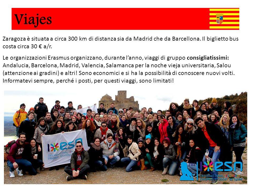 Viajes Zaragoza è situata a circa 300 km di distanza sia da Madrid che da Barcellona. Il biglietto bus costa circa 30 € a/r.