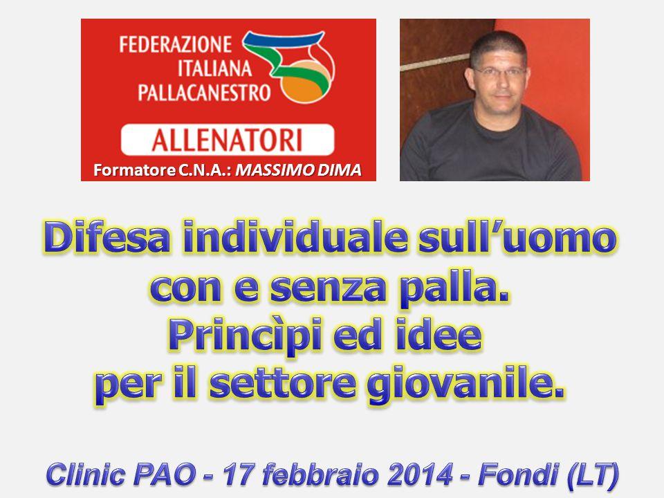 Formatore C.N.A.: Massimo Dima