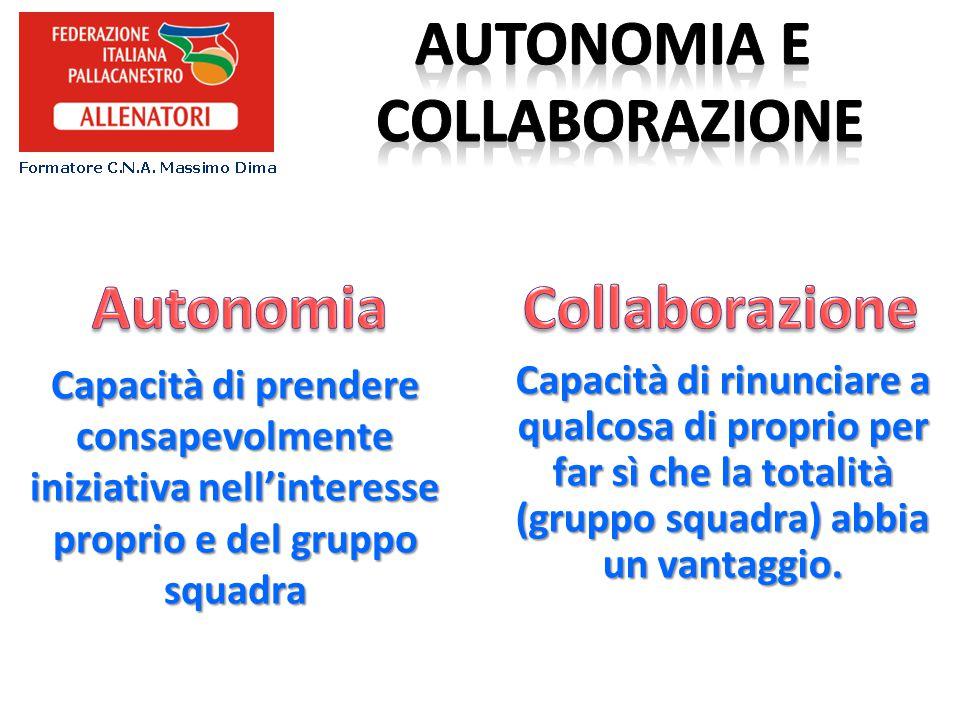 Autonomia e collaborazione Autonomia Collaborazione
