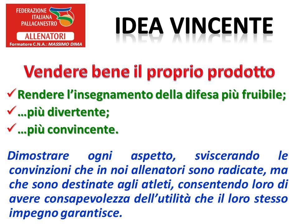Formatore C.N.A.: Massimo Dima Vendere bene il proprio prodotto