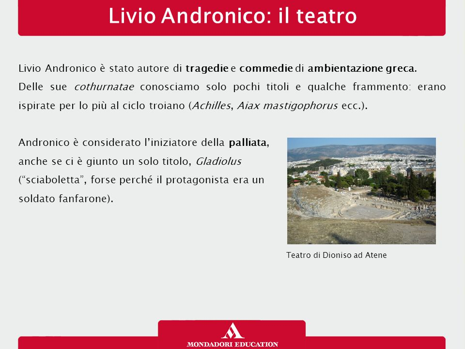 Livio Andronico: il teatro