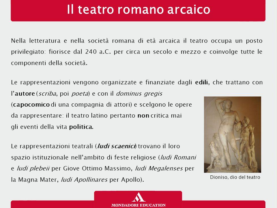 Il teatro romano arcaico