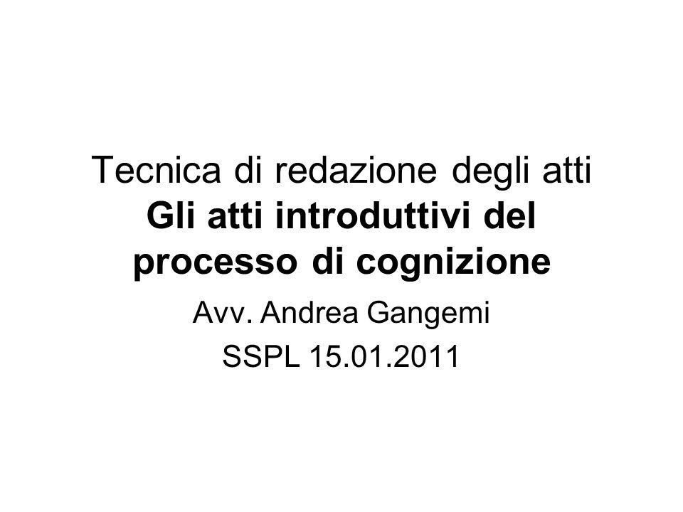 Avv. Andrea Gangemi SSPL 15.01.2011