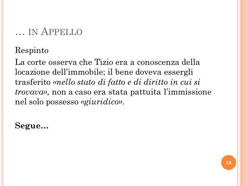 … in Appello