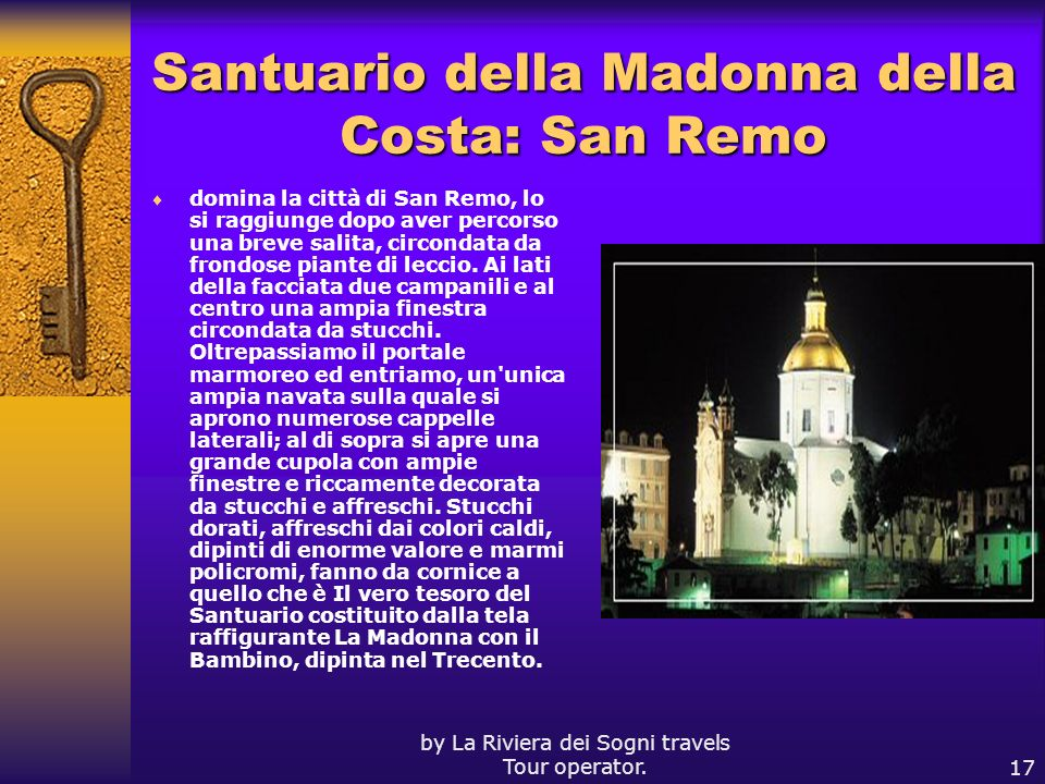 Santuario della Madonna della Costa: San Remo