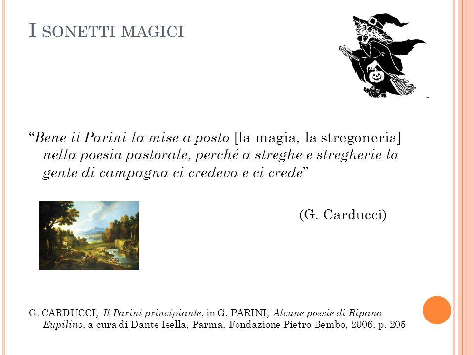 I sonetti magici