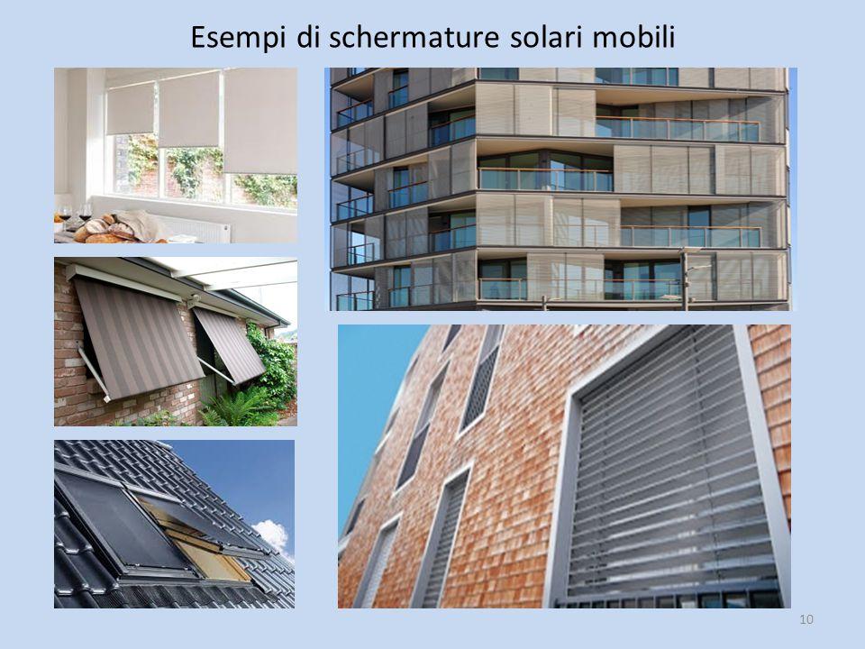 Esempi di schermature solari mobili