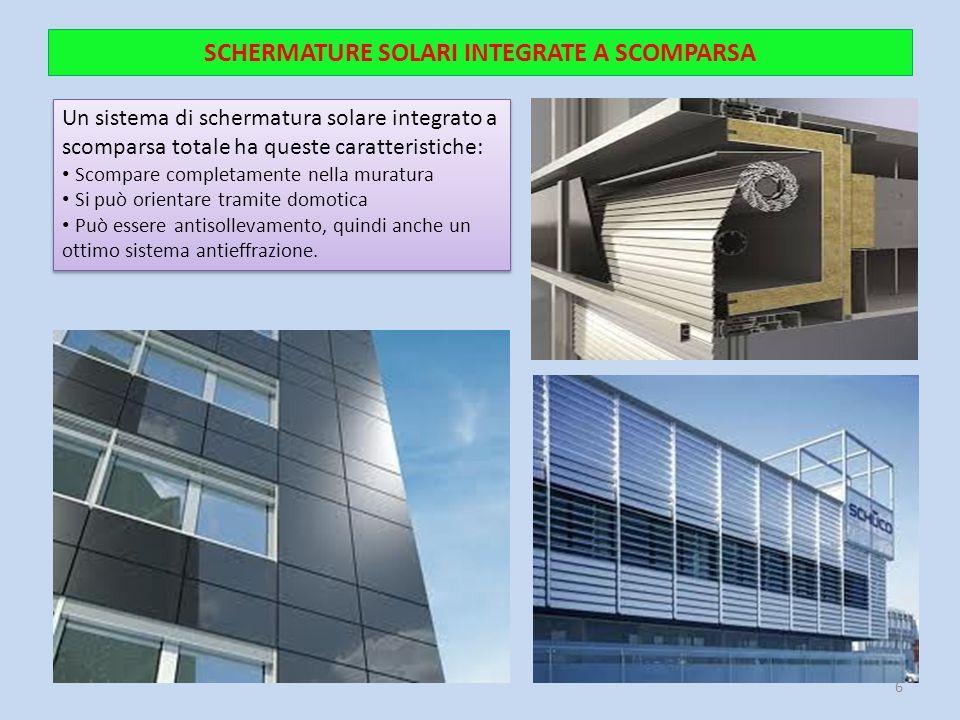 SCHERMATURE SOLARI INTEGRATE A SCOMPARSA