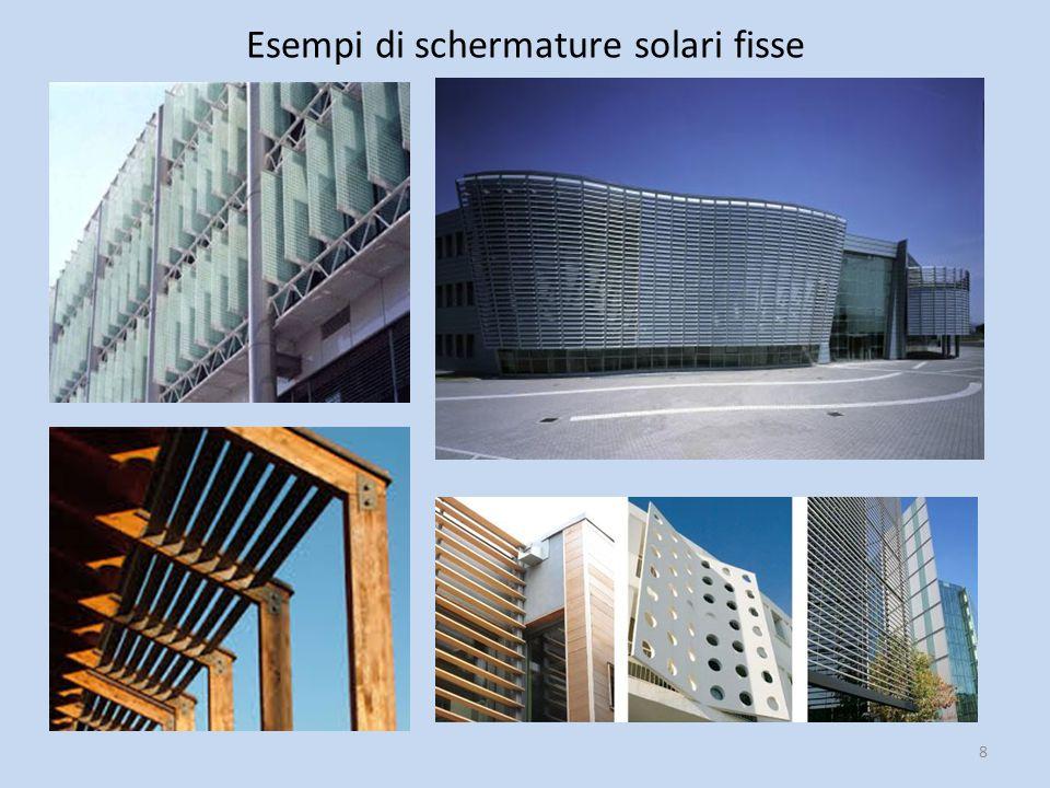 Esempi di schermature solari fisse