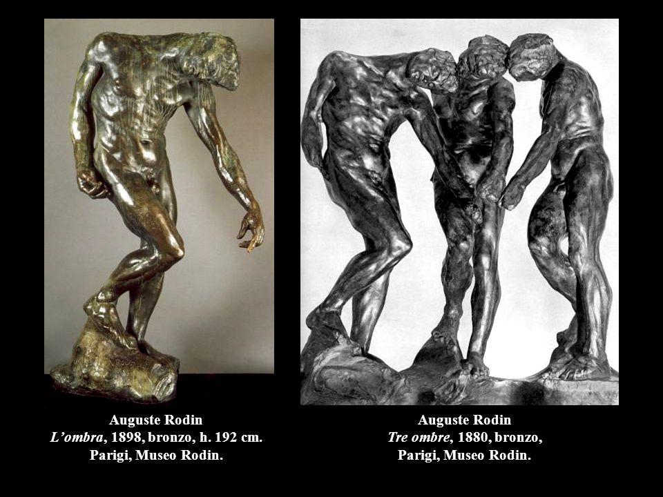 Auguste Rodin L'ombra, 1898, bronzo, h. 192 cm. Parigi, Museo Rodin.