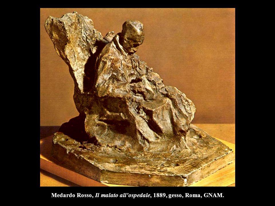 Medardo Rosso, Il malato all'ospedale, 1889, gesso, Roma, GNAM.