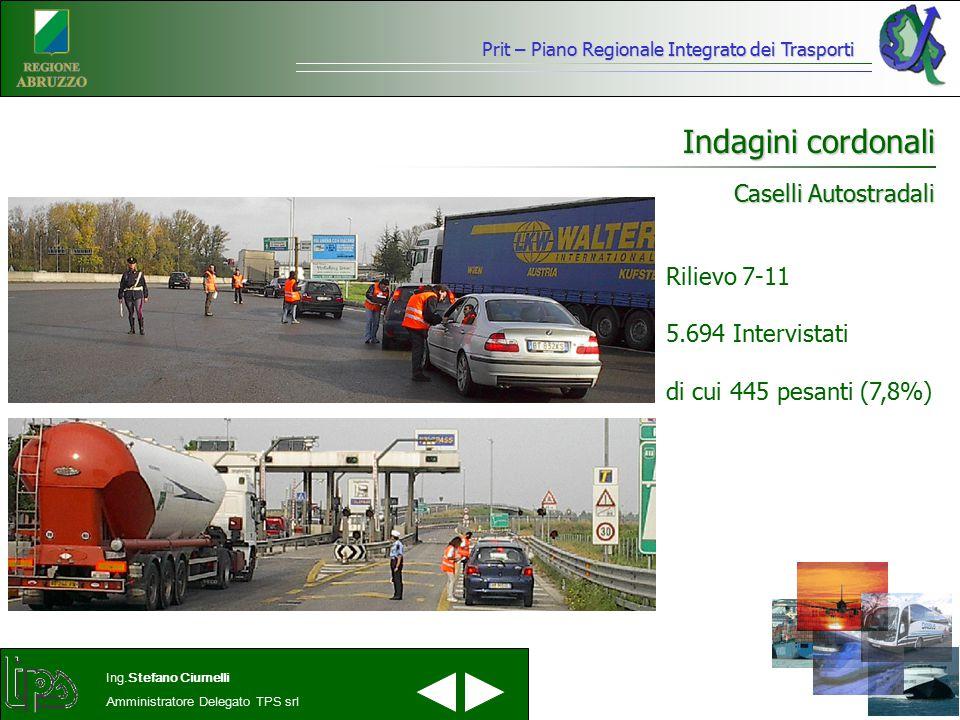 Indagini cordonali Caselli Autostradali Rilievo 7-11