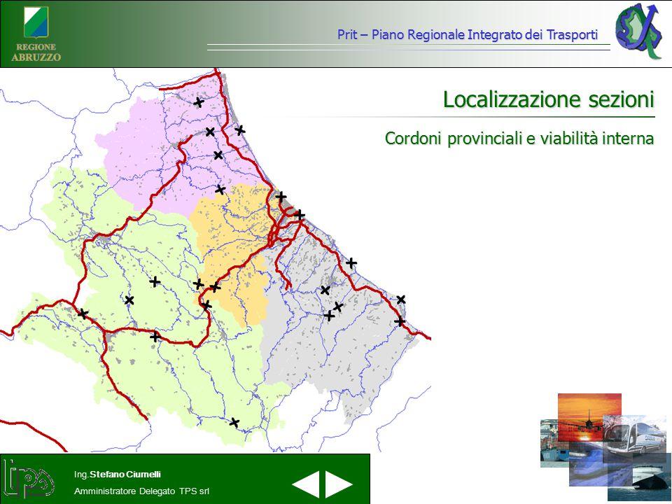 Cordoni provinciali e viabilità interna