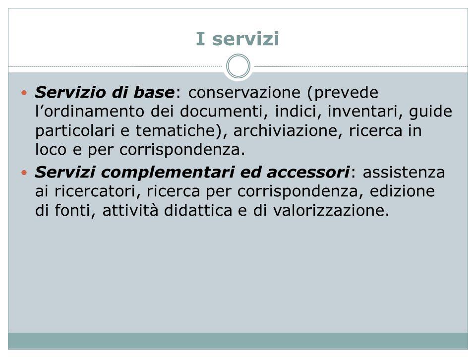 I servizi