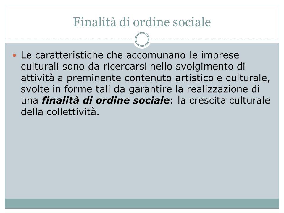 Finalità di ordine sociale