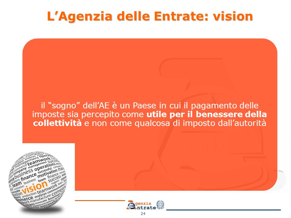 L'Agenzia delle Entrate: vision