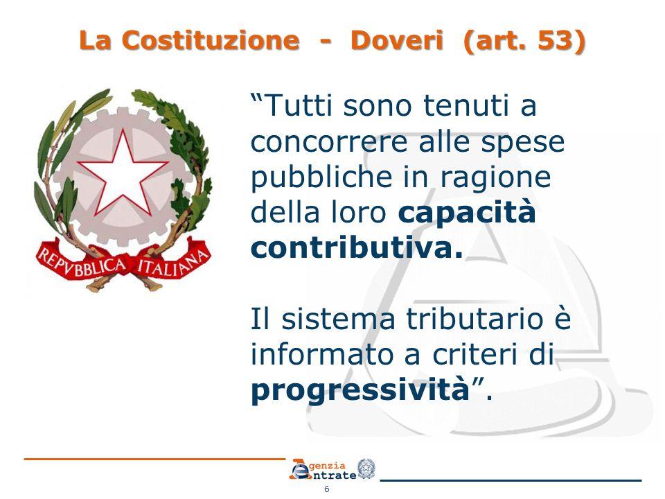 La Costituzione - Doveri (art. 53)