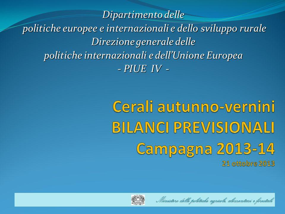 Dipartimento delle politiche europee e internazionali e dello sviluppo rurale. Direzione generale delle.