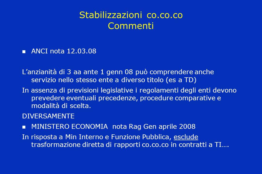 Stabilizzazioni co.co.co Commenti