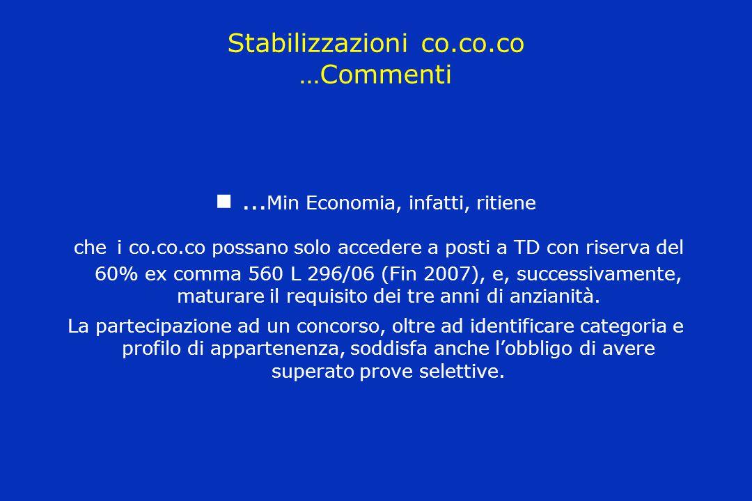 Stabilizzazioni co.co.co …Commenti