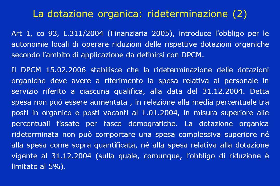 La dotazione organica: rideterminazione (2)