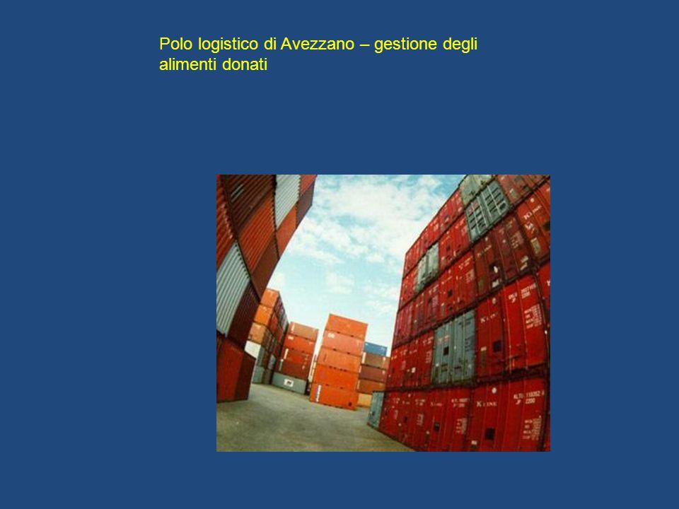 Polo logistico di Avezzano – gestione degli alimenti donati