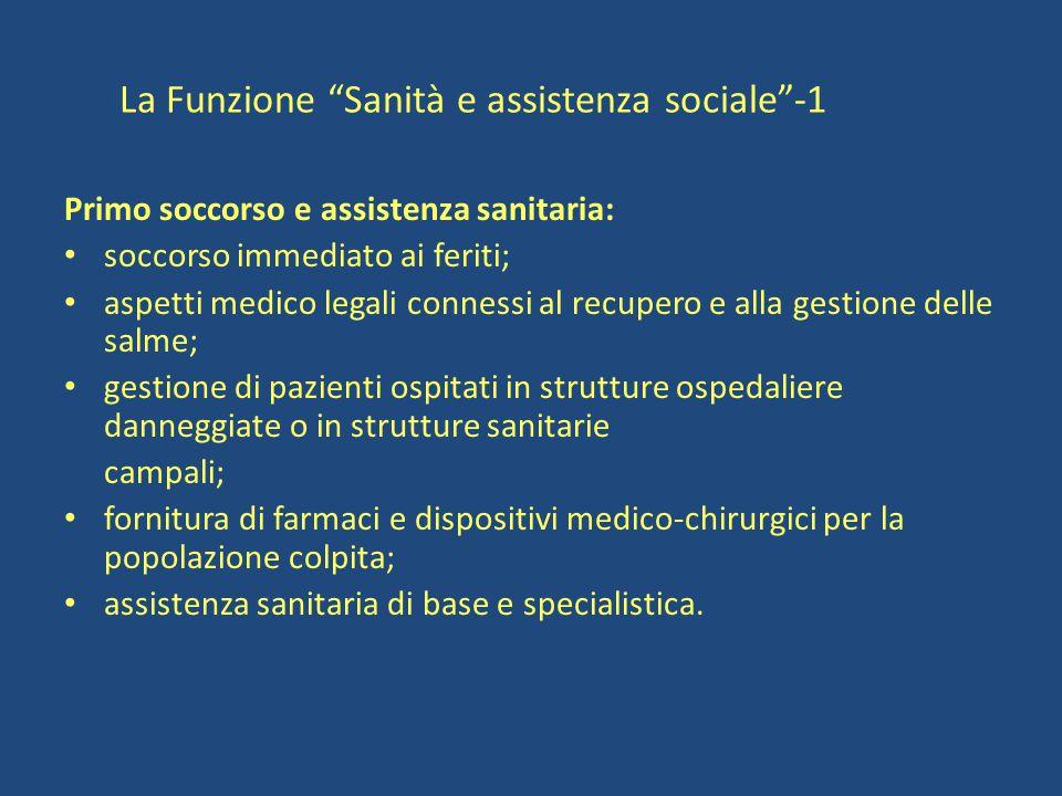 La Funzione Sanità e assistenza sociale -1