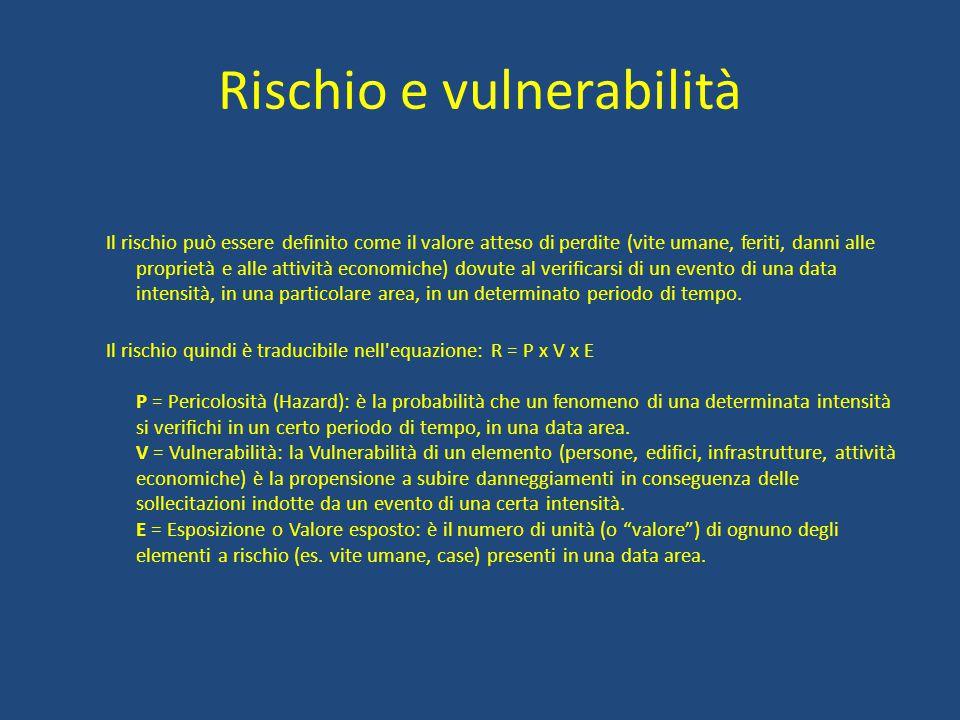 Rischio e vulnerabilità