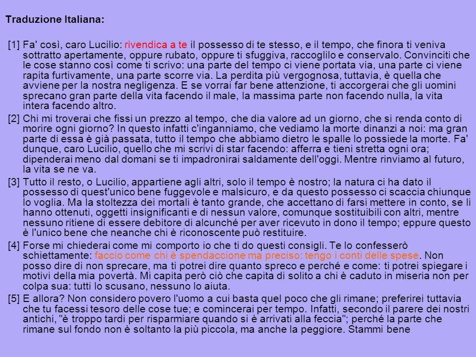 Traduzione Italiana: