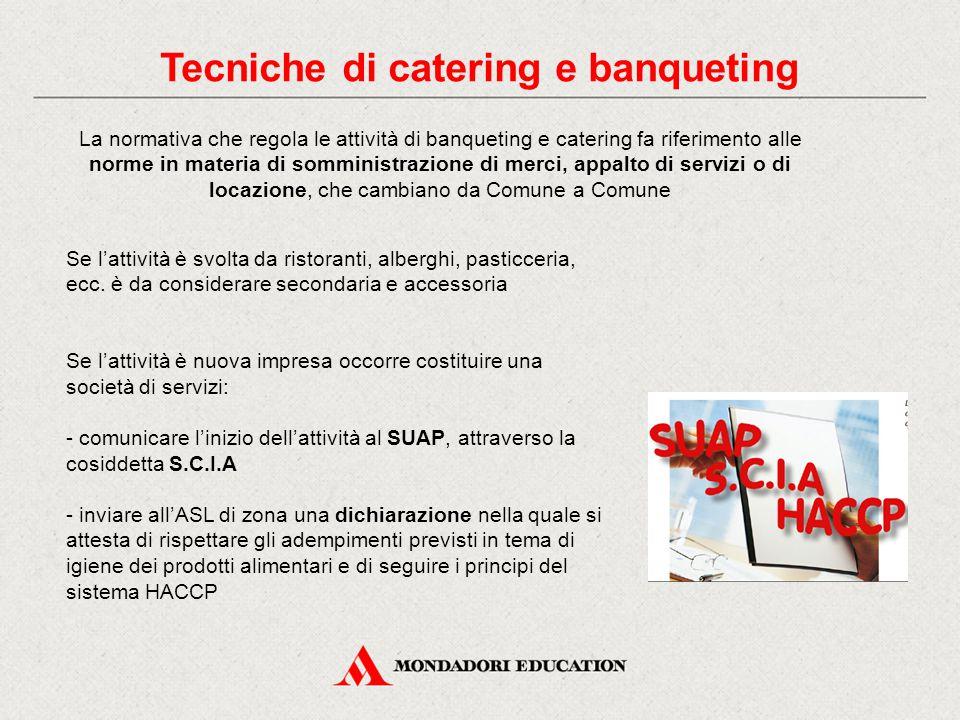 Tecniche di catering e banqueting