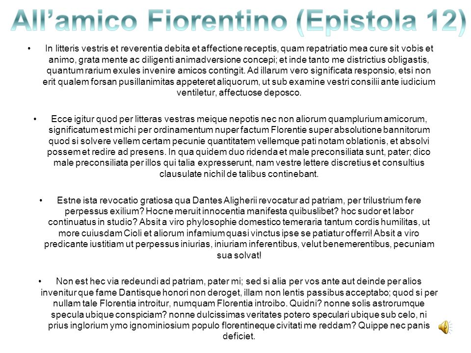 All'amico Fiorentino (Epistola 12)