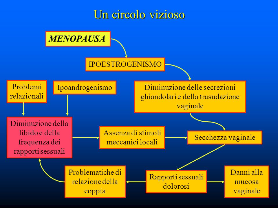 Un circolo vizioso MENOPAUSA IPOESTROGENISMO Problemi relazionali