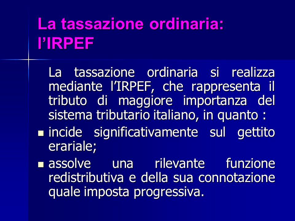 La tassazione ordinaria: l'IRPEF