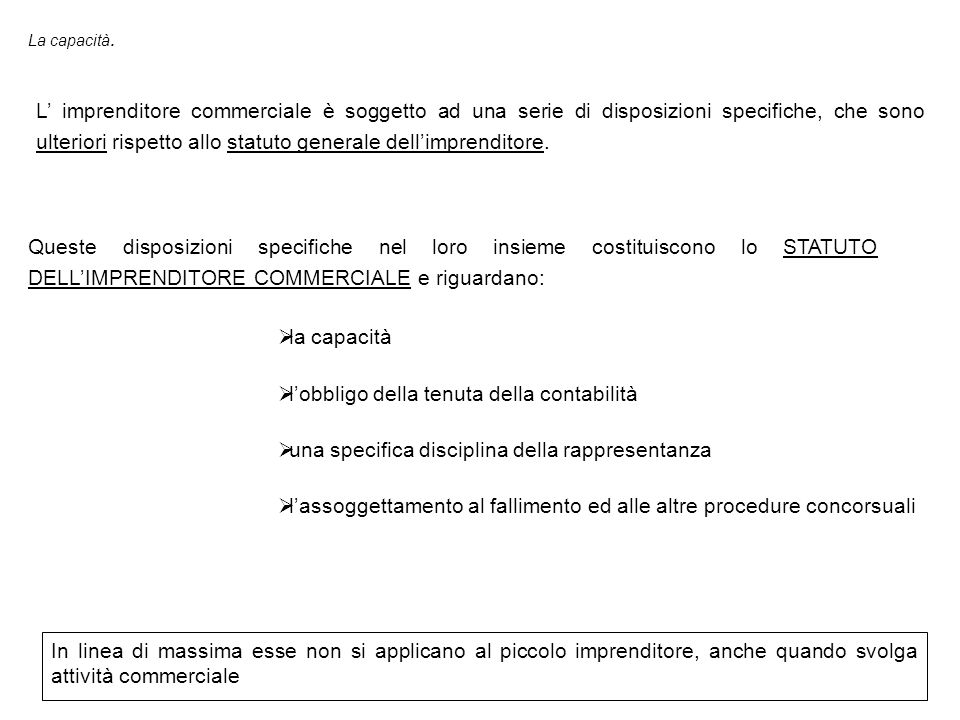 l'obbligo della tenuta della contabilità