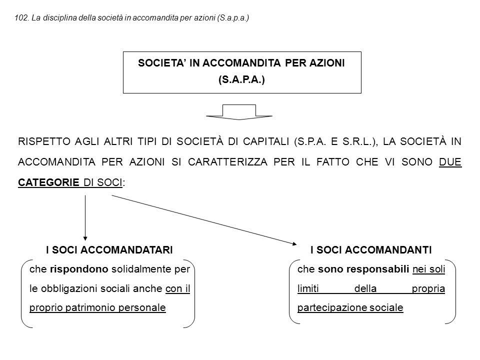 SOCIETA' IN ACCOMANDITA PER AZIONI