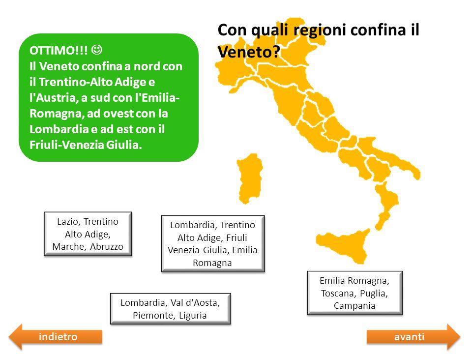 Con quali regioni confina il Veneto